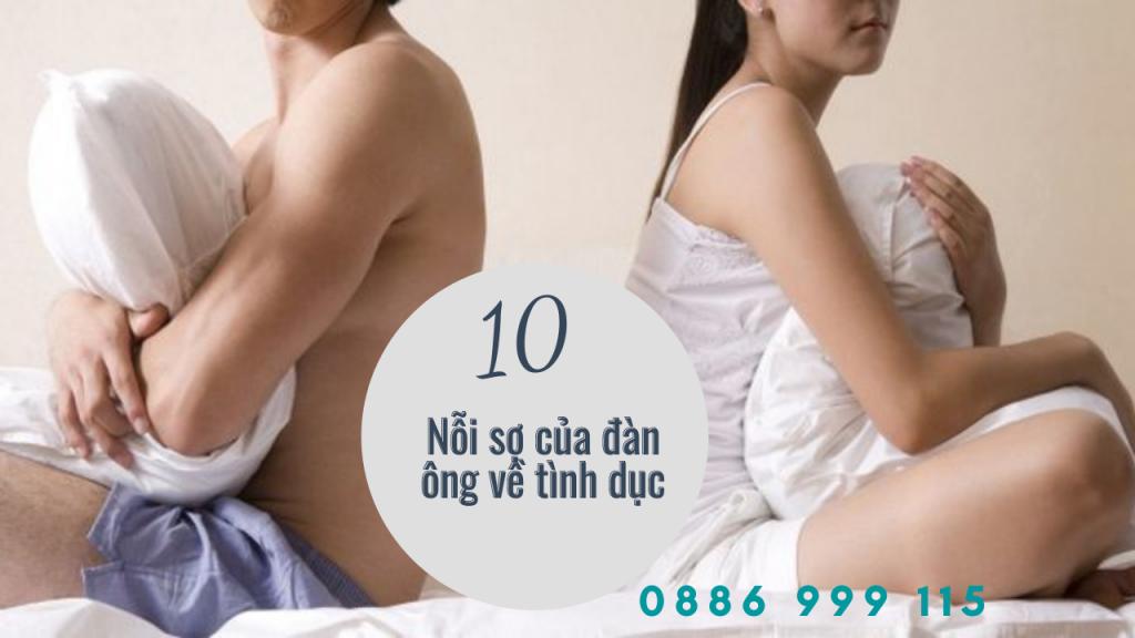 10 nỗi sợ của đàn ông về tình dục